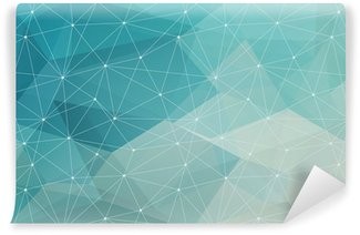 Washable Wall Mural abstract polygonal background, vector