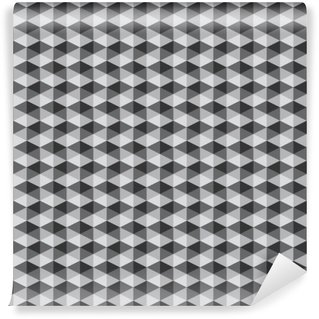 abstract retro geometric pattern black and white color tone vect Washable Wall Mural
