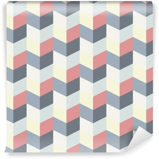 abstract retro geometric pattern Washable Wall Mural