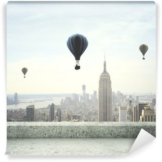 air balloon on sky Washable Wall Mural
