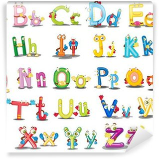 Washable Wall Mural Alphabet characters