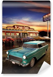 Washable Wall Mural American Diner