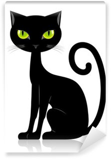 Black cat Washable Wall Mural