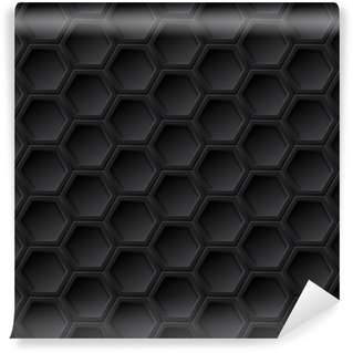 Washable Wall Mural Black grid seamless pattern