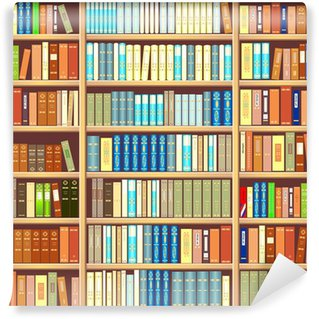 Washable Wall Mural Bookcase full of books