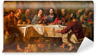 BRUSSELS - JUNE 21: Paint of Last supper of Christ in st. Nicho