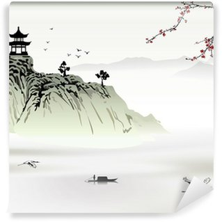 Washable Wall Mural Chinese landscape painting