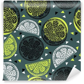 Citrus pattern graphics Washable Wall Mural