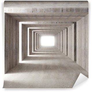 concrete tunnel and lateral lights