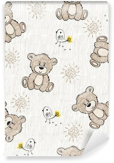 Washable Wall Mural Cute hand draw seamless pattern for kids.