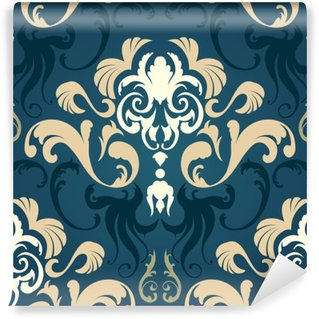 Washable Wall Mural Damask seamless pattern