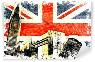 Washable Wall Mural drapeau anglais decoupe