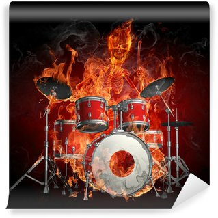 Drummer Washable Wall Mural