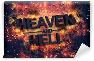 Embers surrounding the word heaven and health