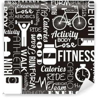 Washable Wall Mural fitness vector