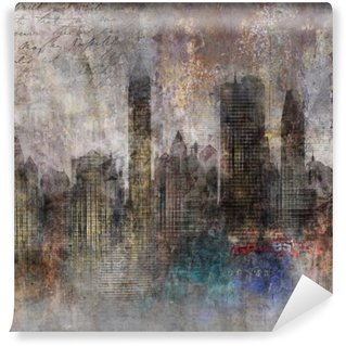 Washable Wall Mural Fond ville grunge