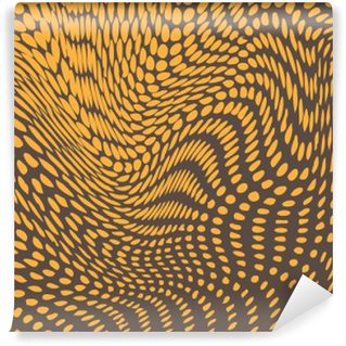 Washable Wall Mural Halftone effect deformed into bulges and waves. Reptile skin resemblance. Vector background