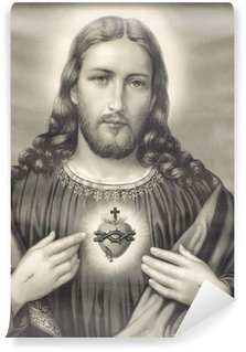 Washable Wall Mural heart of Jesus Christ