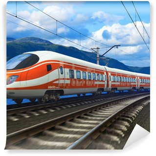 Washable Wall Mural High speed train