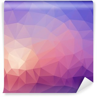 Washable Wall Mural Illustration of colored poligonal abstract background.