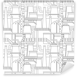 Industrial city pattern Washable Wall Mural
