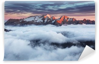 Italian Dolomites in summer Washable Wall Mural