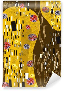 klimt inspired abstract art Washable Wall Mural