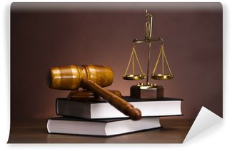 Washable Wall Mural Law and justice concept, gavel