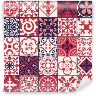 Moroccan tiles Pattern Washable Wall Mural