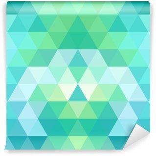 Mosaic triangle background. Geometric background Washable Wall Mural