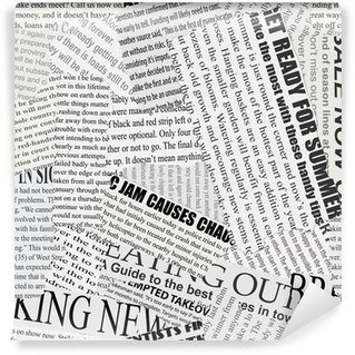 Washable Wall Mural Newsprint Background