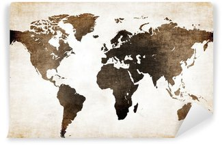Washable Wall Mural Old world map