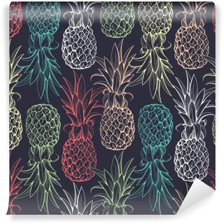 Pineapples seamless pattern Washable Wall Mural