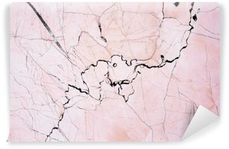 Washable Wall Mural Pink light marble stone texture background.Beautiful pink marble