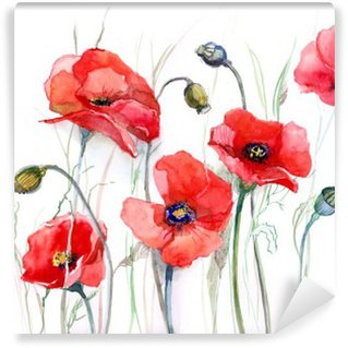 Washable Wall Mural poppy