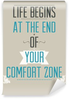 Washable Wall Mural Poster with motivational slogan