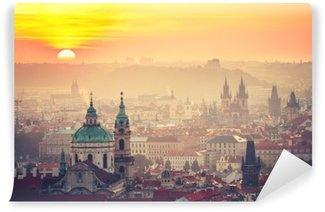 Washable Wall Mural Prague at the sunrise