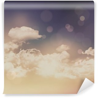 Retro clouds and sky background Washable Wall Mural