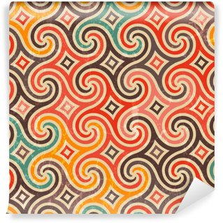 Washable Wall Mural Retro pattern with swirls.