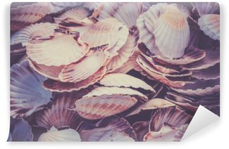 Washable Wall Mural Scallop shells heap