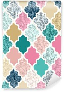 seamless doodle dots geometric pattern
