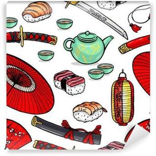 seamless Japanese symbols