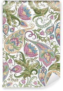 Seamless Paisley Pattern Washable Wall Mural