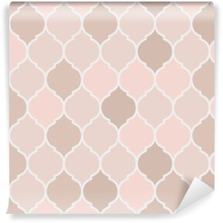 Seamless pattern pink tiles, vector Washable Wall Mural