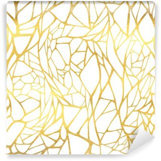 Washable Wall Mural Seamless pattern with abstract golden ornament