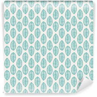 seamless pattern with leaves Washable Wall Mural