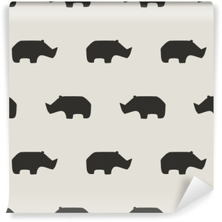seamless rhino pattern