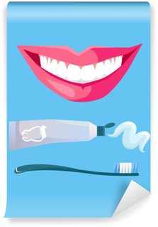 Smile with White Tooth Washable Wall Mural