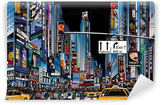street in New York city Washable Wall Mural