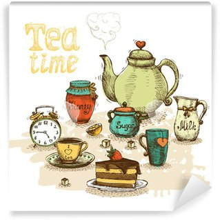 Washable Wall Mural Tea time still life